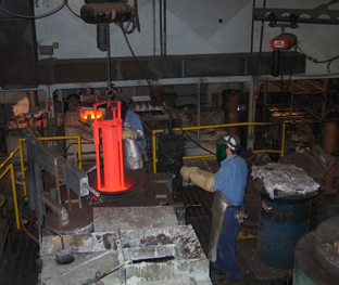 4340 Steel Bar Removed From Fluidized Bed